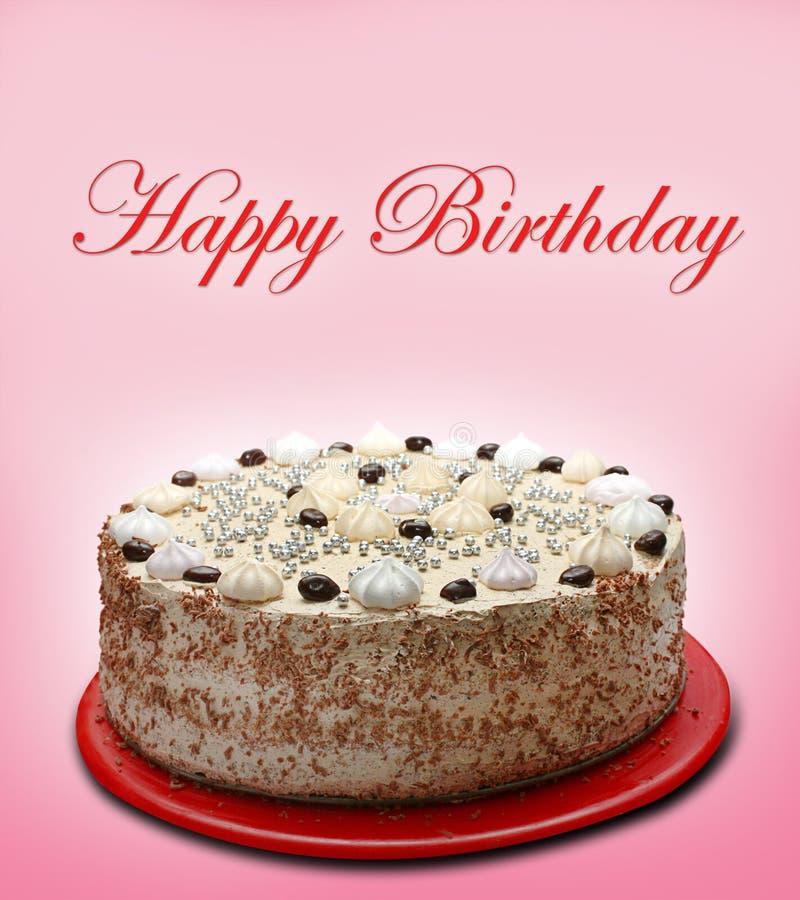 Gâteau de joyeux anniversaire images stock