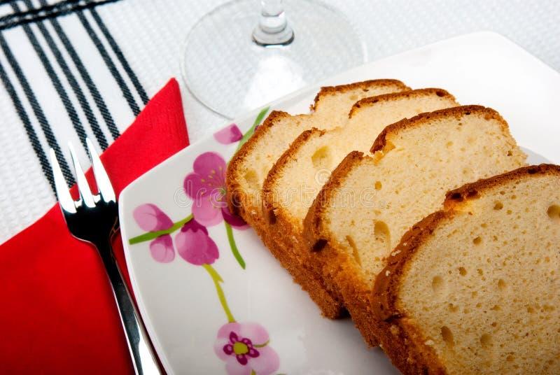 Gâteau de la Madère images libres de droits