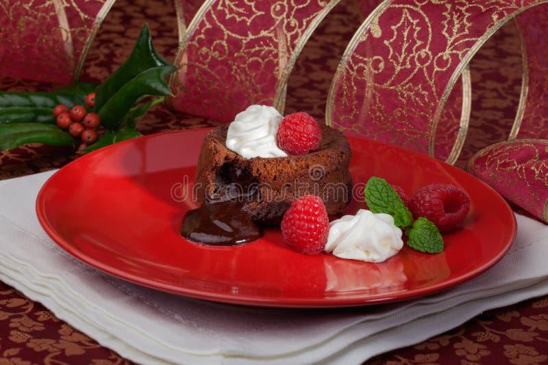 Gâteau de lave de vacances image libre de droits