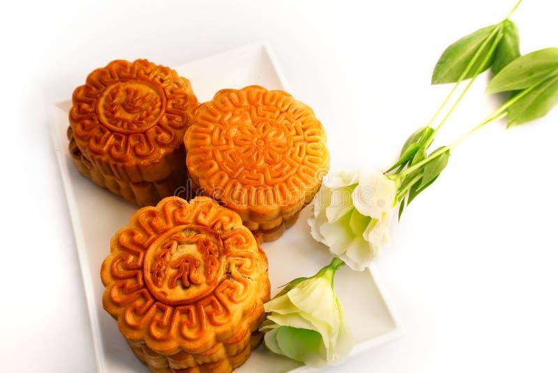 Gâteau de lune chinois photographie stock