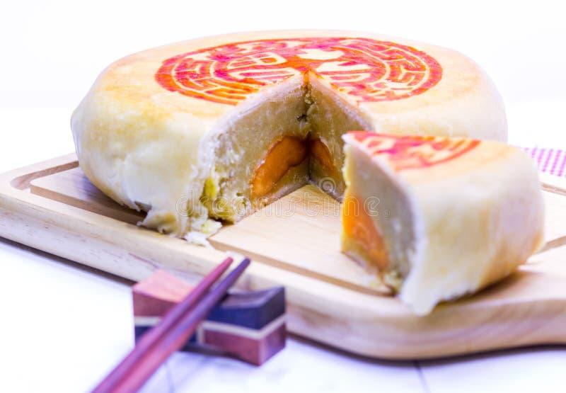 Gâteau de lune chinois photographie stock libre de droits