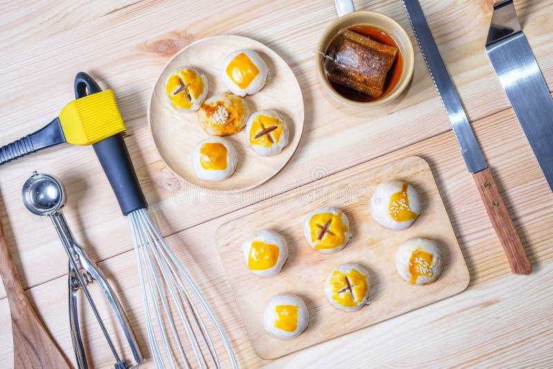 Gâteau de lune chinois de pâtisserie images libres de droits