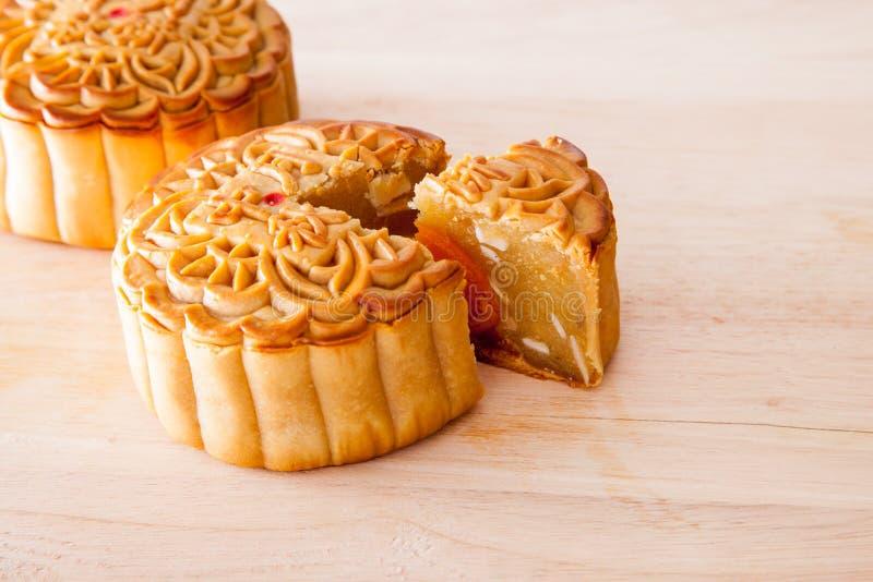 Gâteau de lune pour le Mi-automne fastival images stock