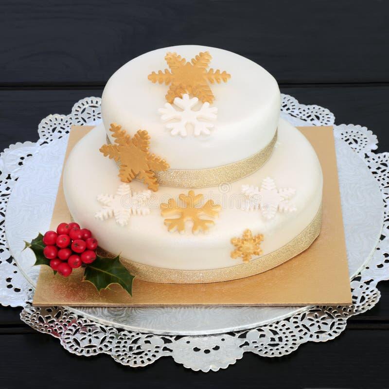 Gâteau de luxe de Noël photographie stock libre de droits