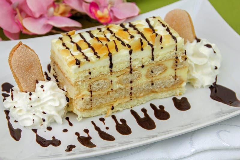 Gâteau de Malakoff - gâteau autrichien photo stock
