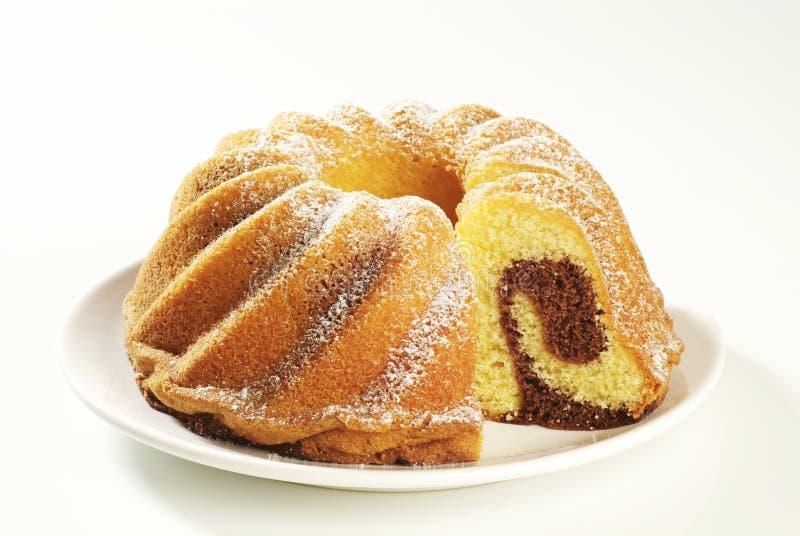 Gâteau de marbre images stock