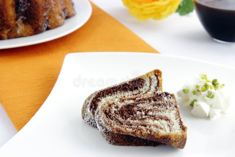 Gâteau de marbre photo libre de droits