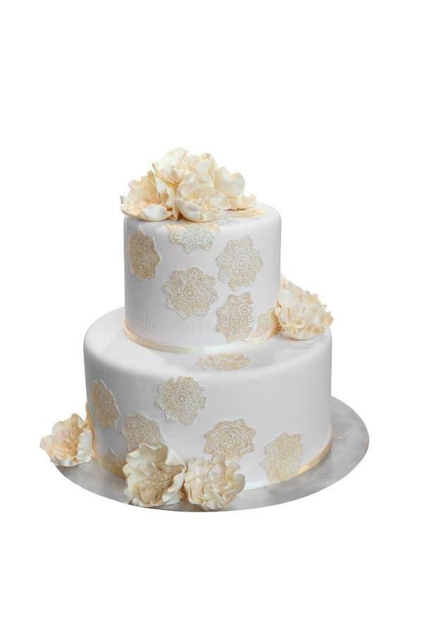Gâteau de mariage élégant photo stock