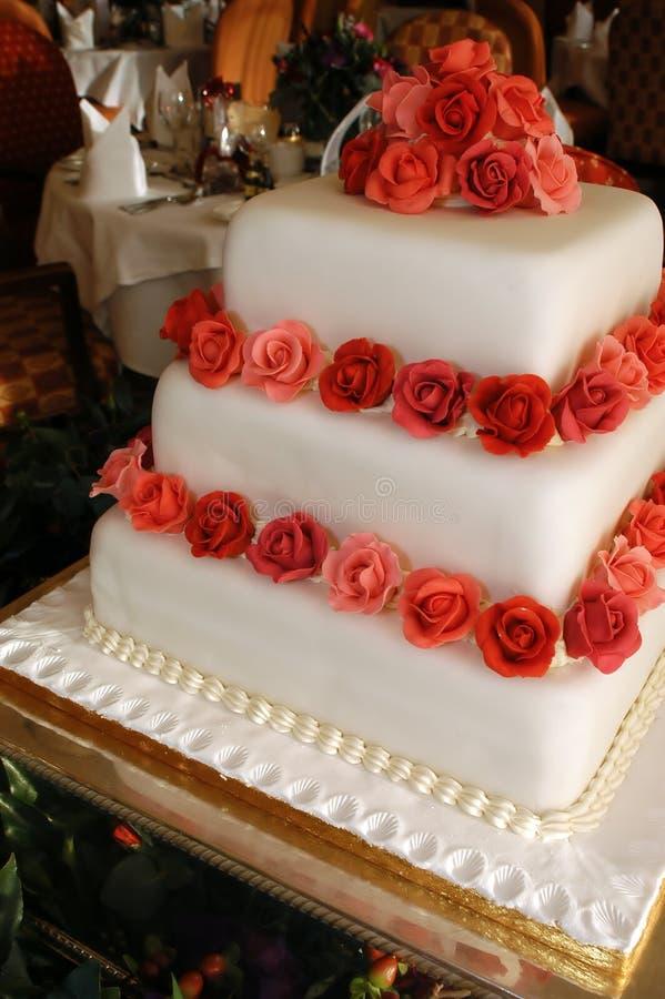 Gâteau de mariage 1 photo libre de droits