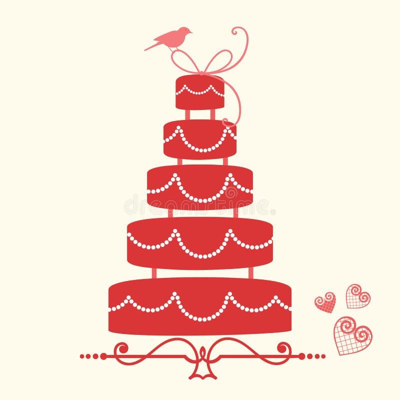Gâteau de mariage illustration libre de droits