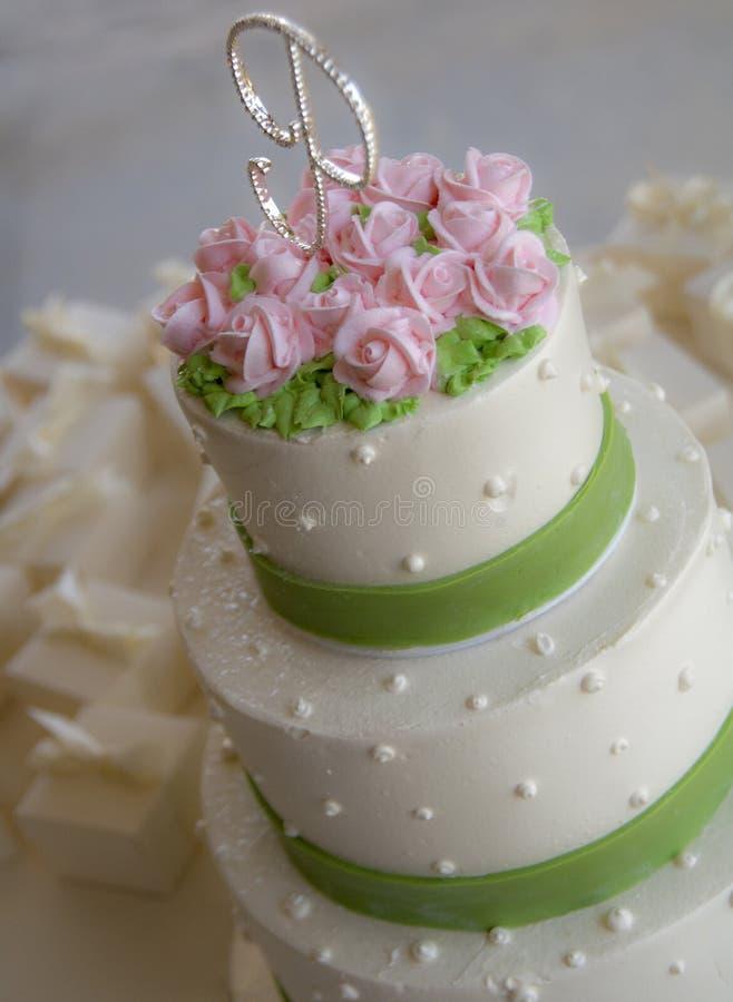 Gâteau de mariage images libres de droits