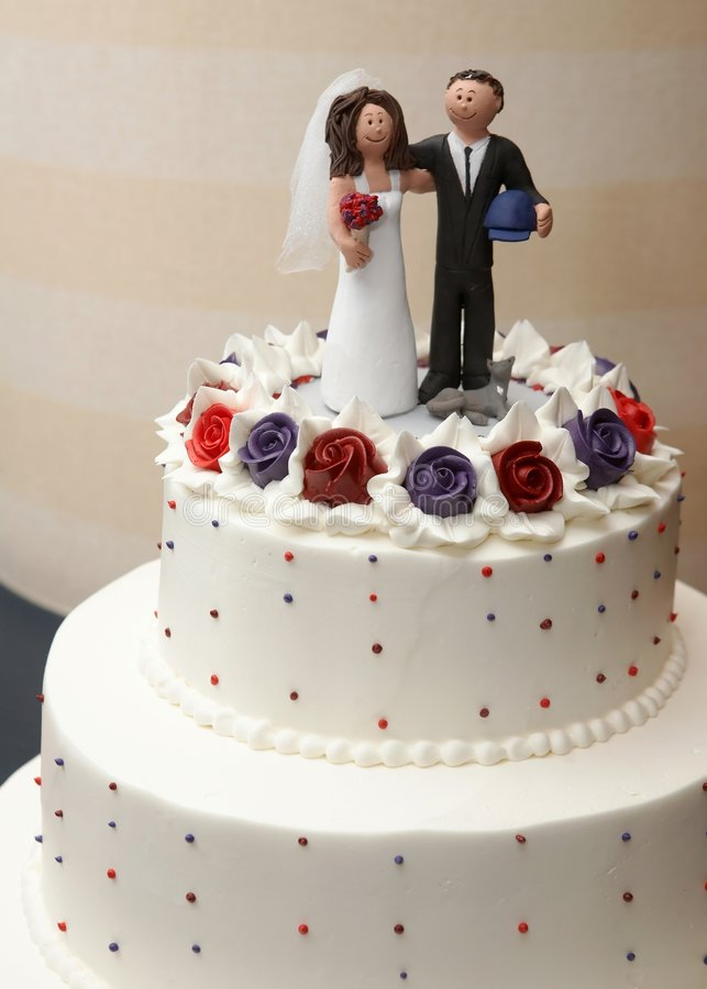 Download Gâteau de mariage photo stock. Image du mariage, bride - 8656920