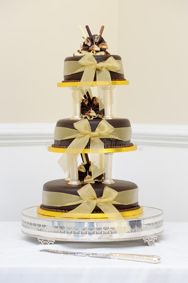Image de gateau de mariage au chocolat