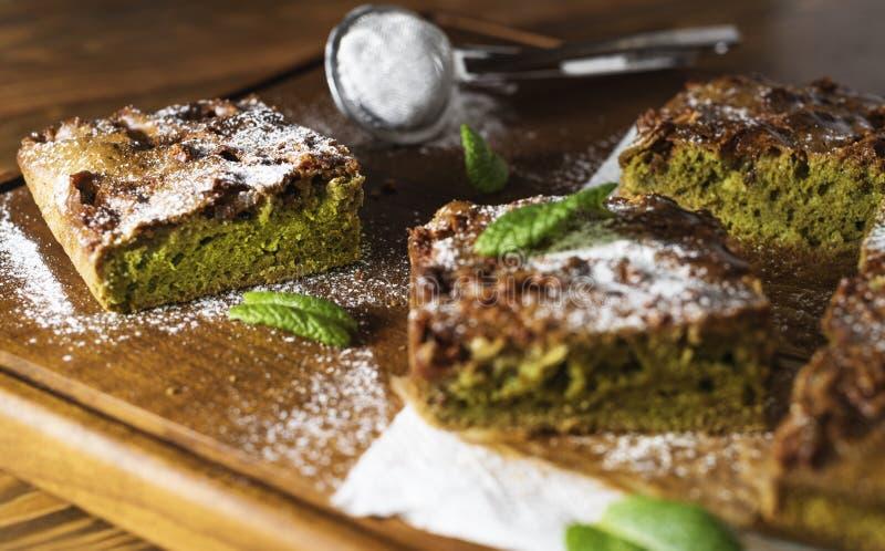 Gâteau de Matcha image stock