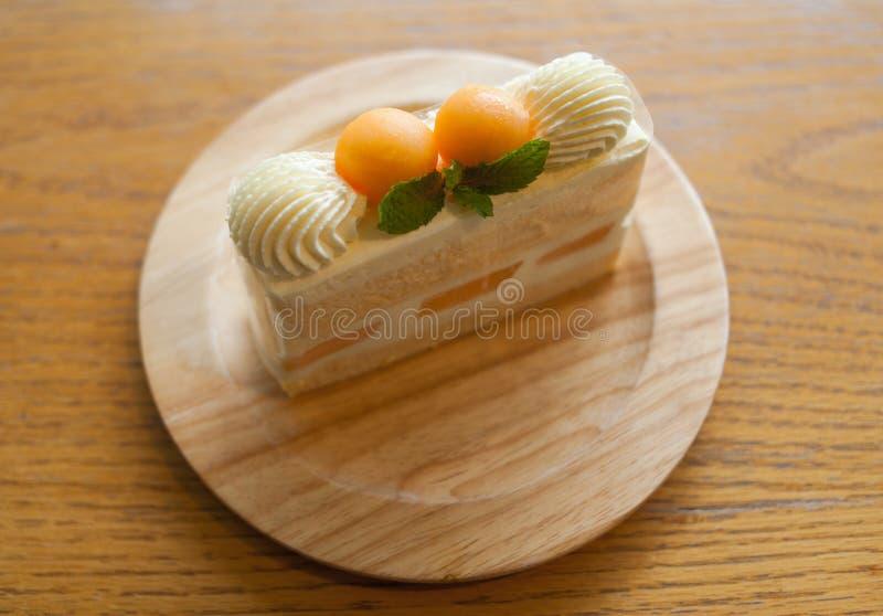 Gâteau de melon images libres de droits