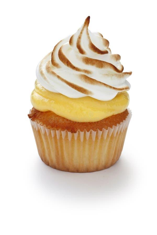 Gâteau de meringue de citron images libres de droits