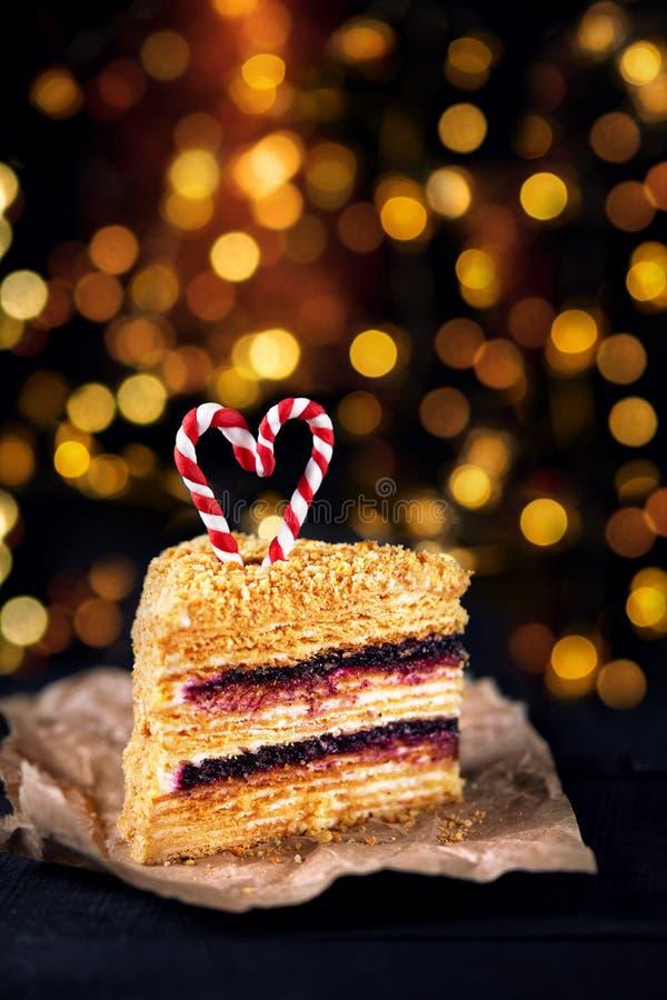 Gâteau de miel sur Noël photos stock