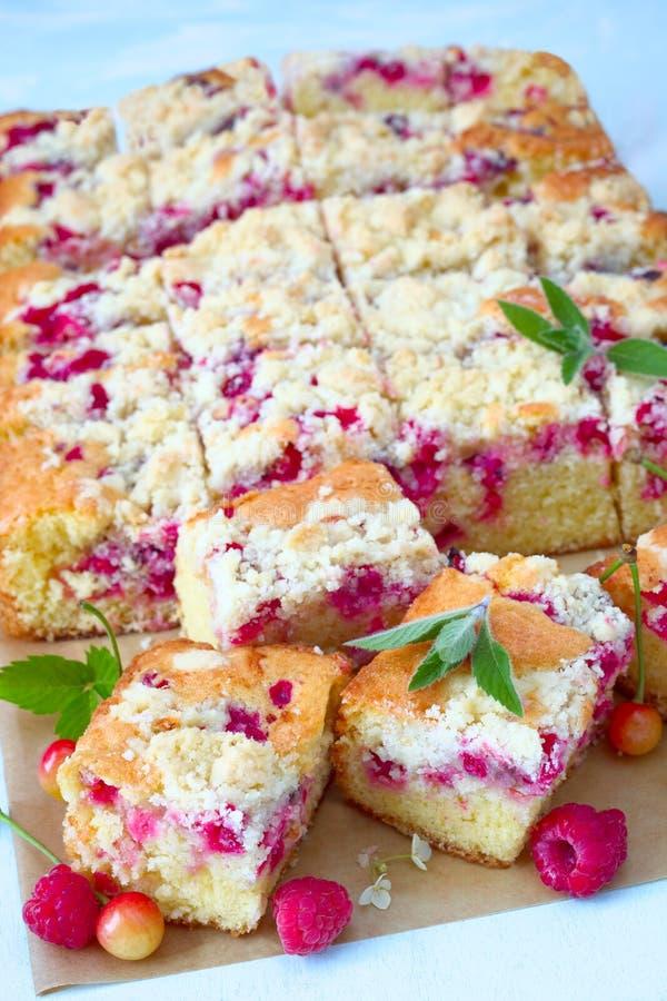 Gâteau de miette de baie photographie stock libre de droits