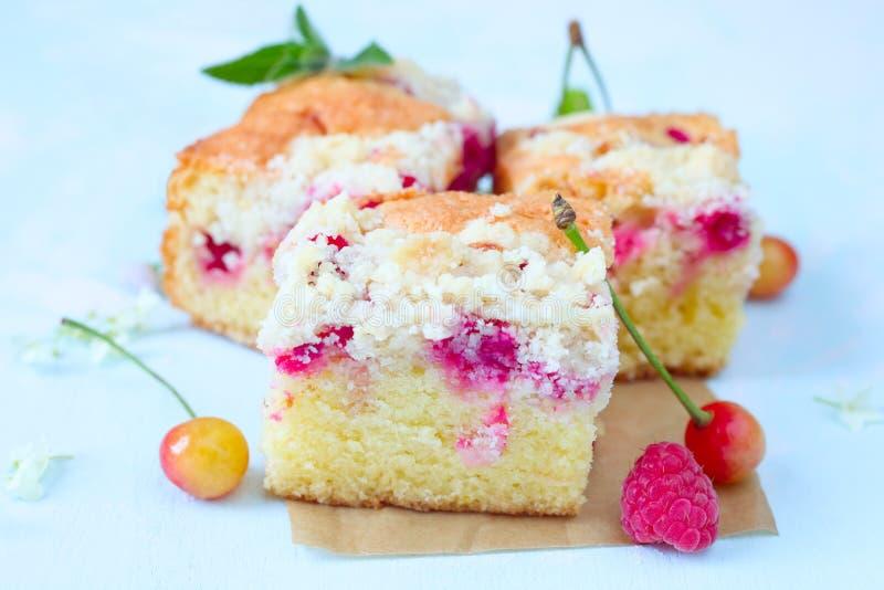 Gâteau de miette de baie images libres de droits