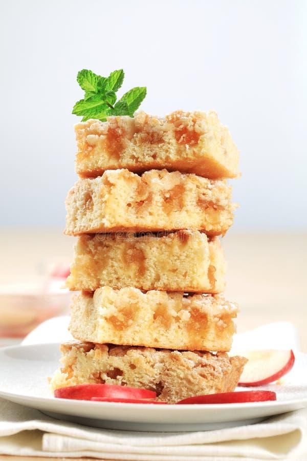 Gâteau de miette d'Apple image stock