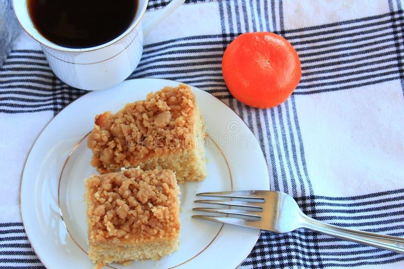Gâteau de miette de café photo libre de droits