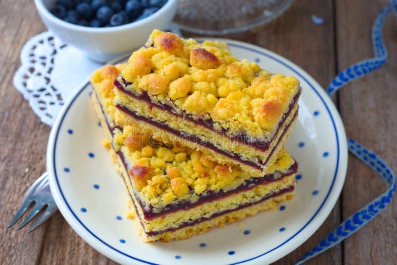 Gâteau de miette de myrtille photos libres de droits