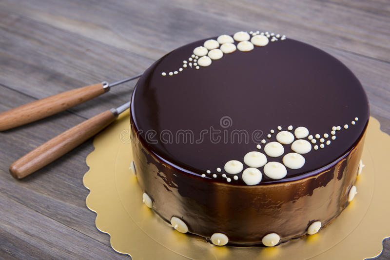 Gâteau de mousse photographie stock