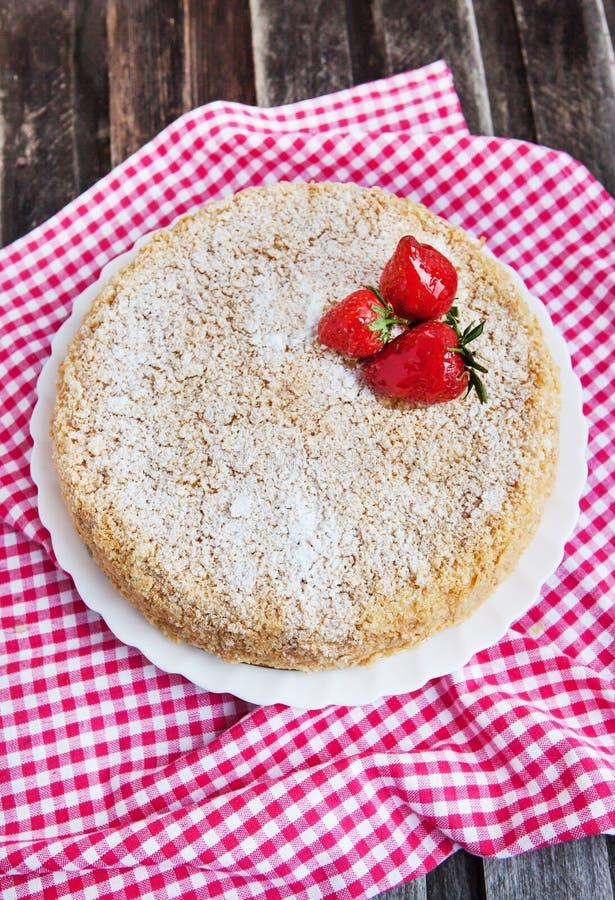 Gâteau de napoléon photos libres de droits