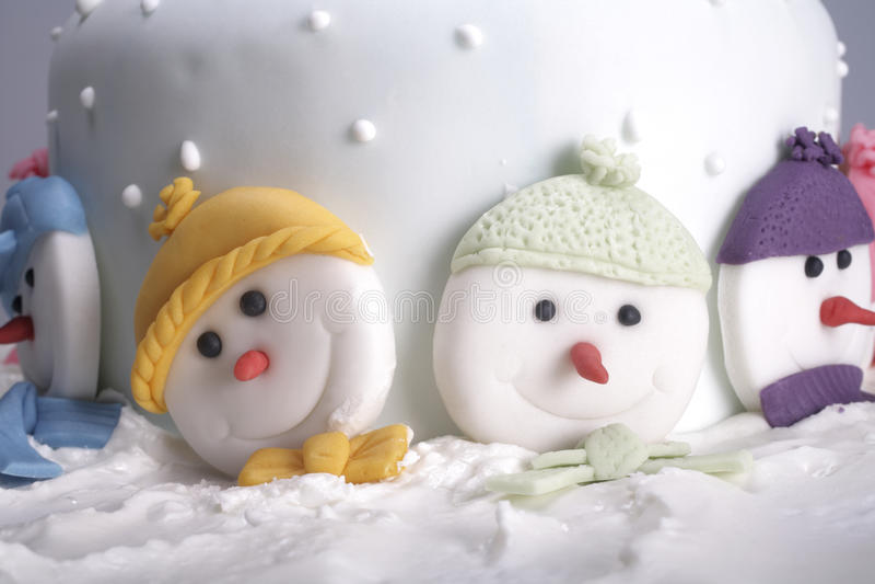 Gâteau de Noël photographie stock