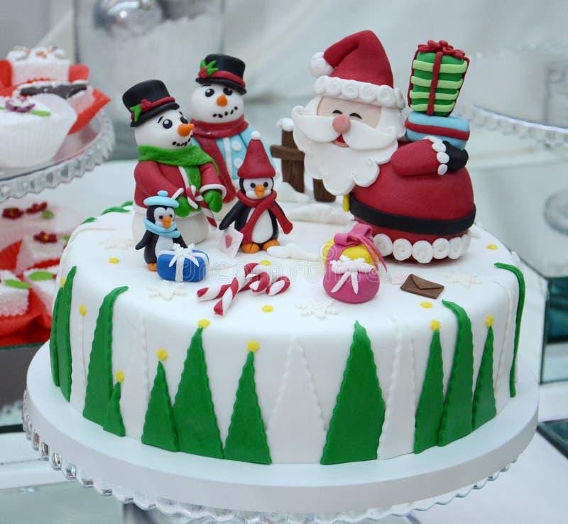 Gâteau de Noël blanc images libres de droits
