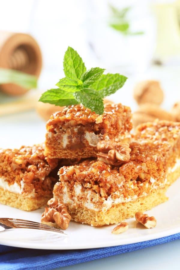Gâteau de noix images libres de droits