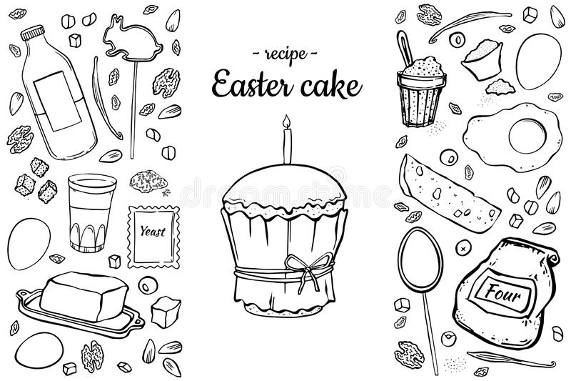 Gâteau de Pâques de recette illustration libre de droits