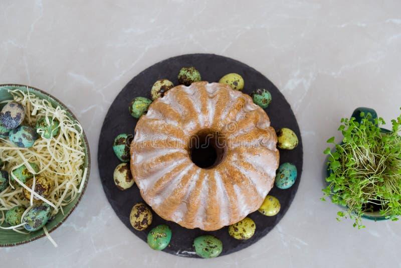 Gâteau de Pâques, vacances de ressort, célébration de Pâques photos stock