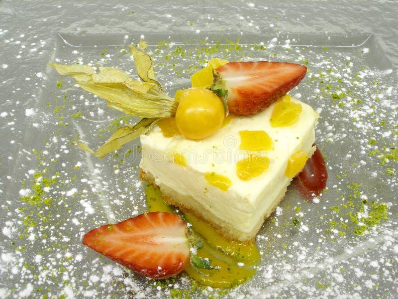 Gâteau de pêche photo libre de droits