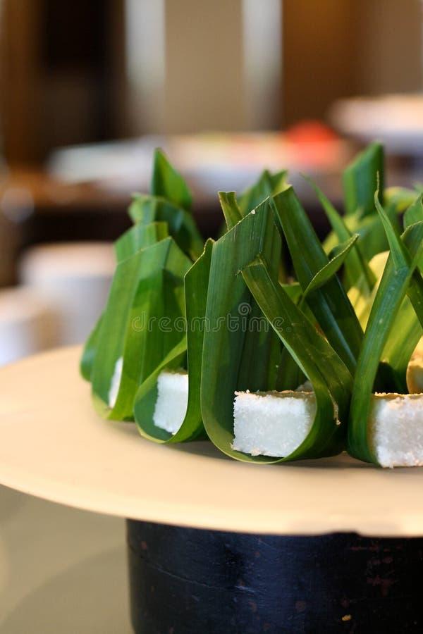 Gâteau de Pandan dans des lames photo libre de droits