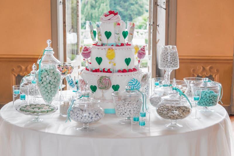 Gâteau de partie photo libre de droits