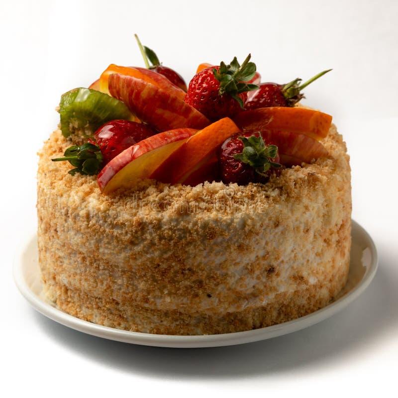 Gâteau de petits fruits photographie stock libre de droits