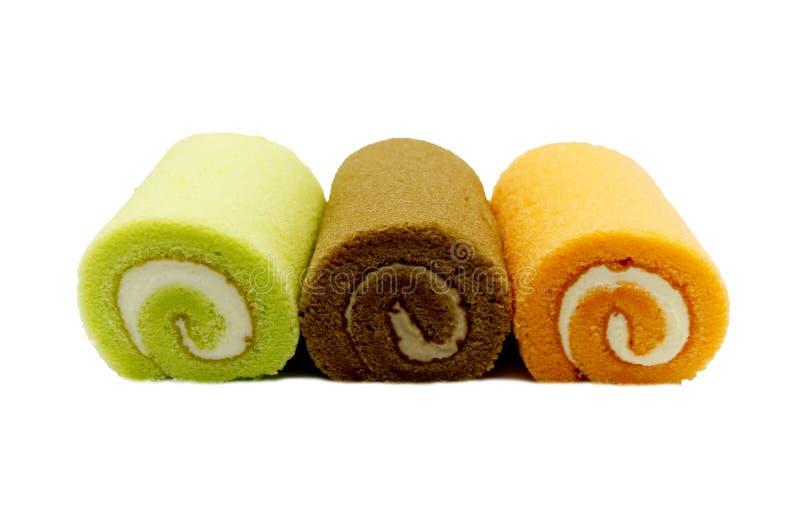 Gâteau de petits pains de confiture d'isolement photographie stock libre de droits