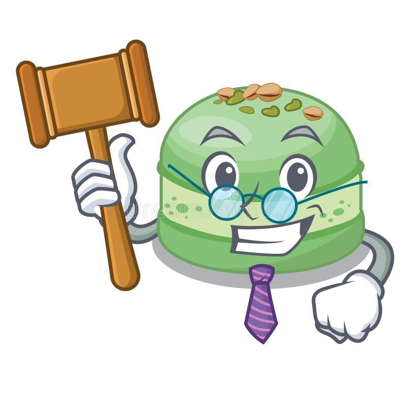 Gâteau de pistache de juge dans la forme de mascotte illustration stock