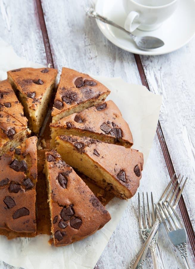 Gâteau de puce de chocolat image stock
