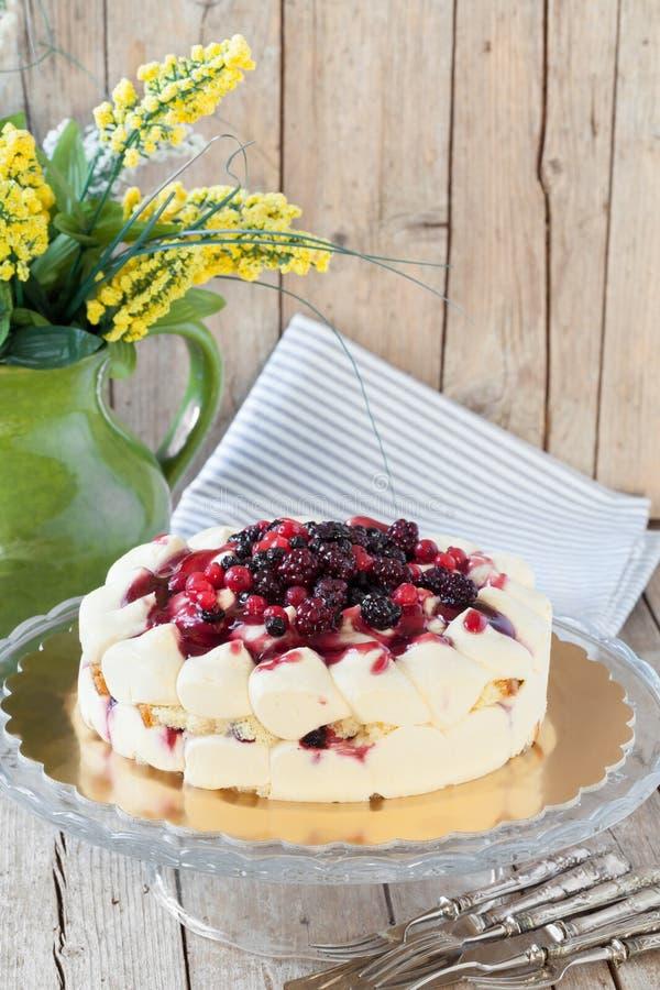 Gâteau de ressort avec des baies photos libres de droits
