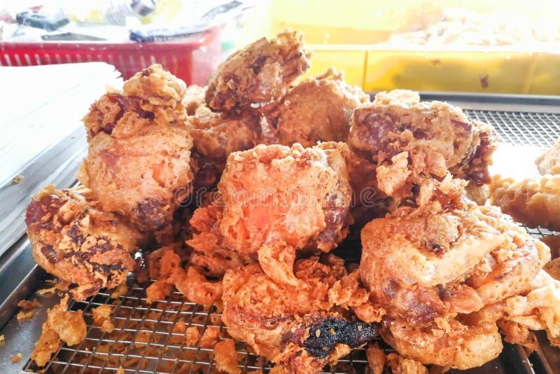 Gâteau de riz visqueux frit également connu sous le nom de Fried Nien Gao photo stock