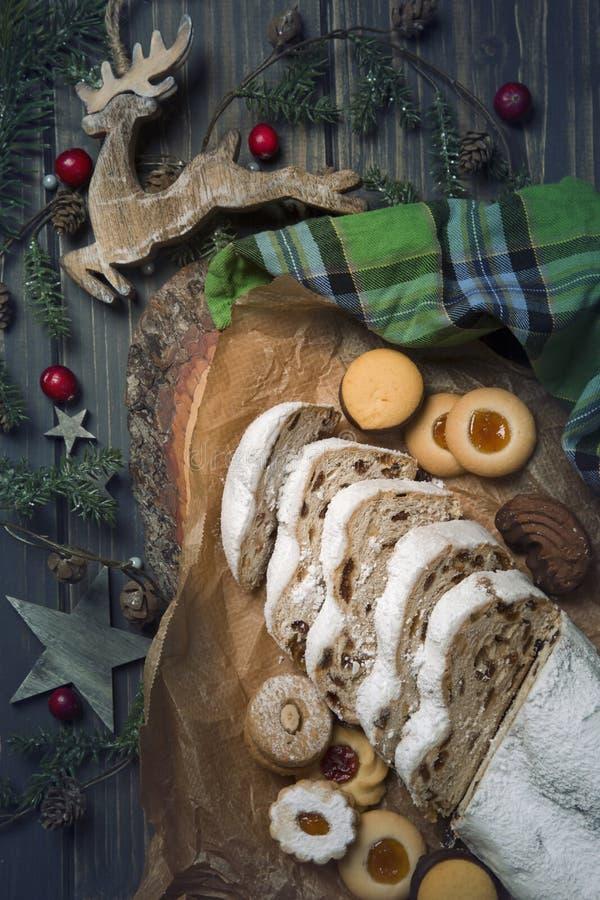 Gâteau de Stollen photo libre de droits
