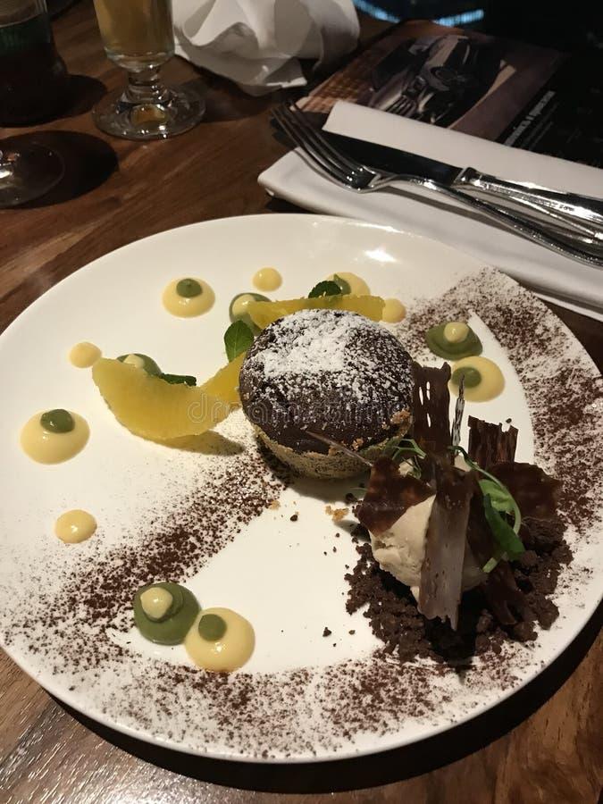 gâteau de sucre de menu de restaurant de dessert photos libres de droits