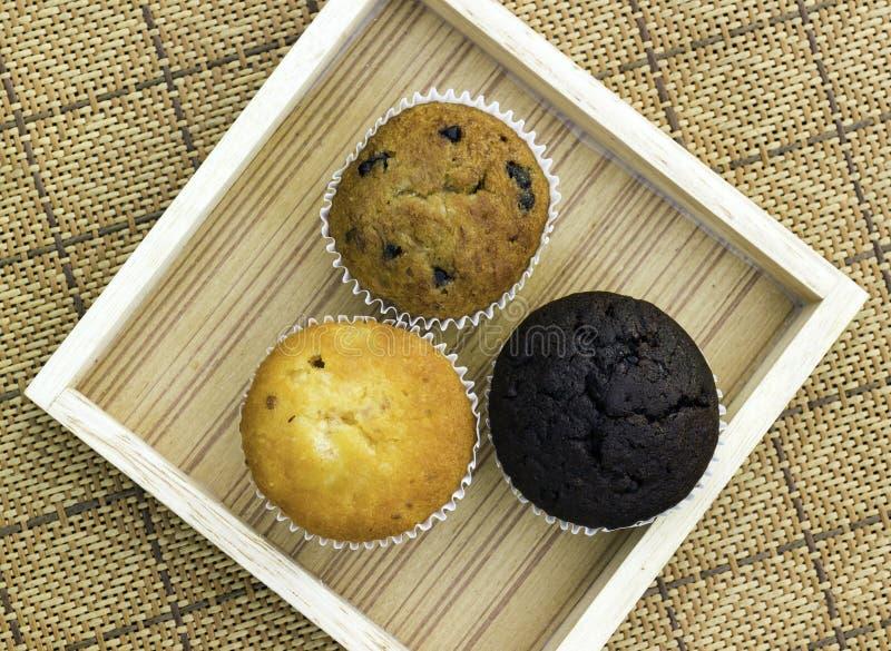 Gâteau de tasse de dessert de pain images libres de droits