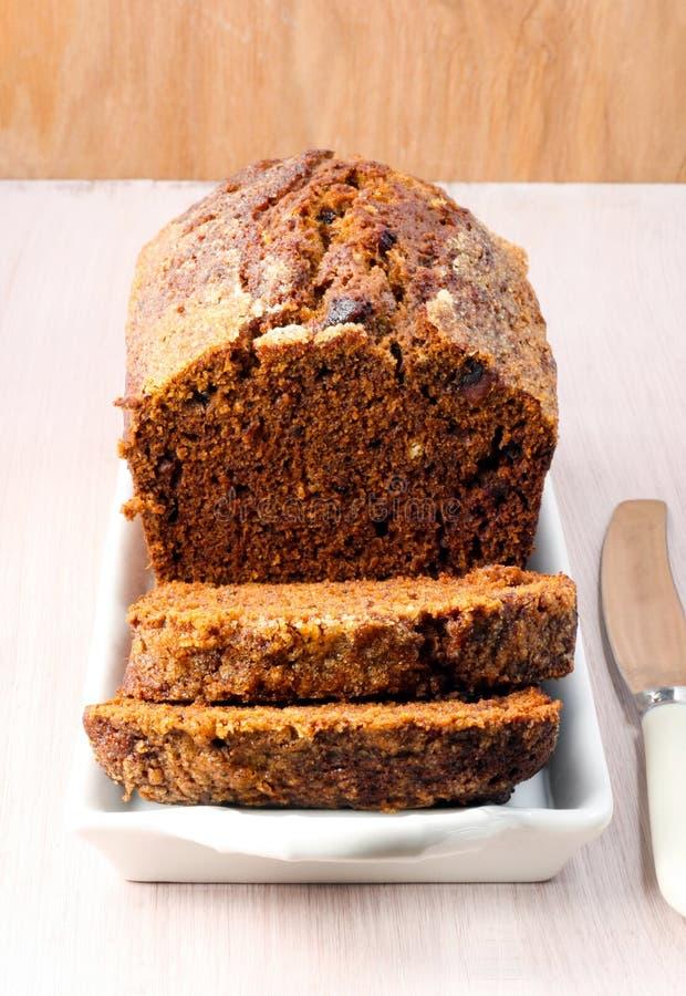 Gâteau de thé de datte et de noix photo libre de droits