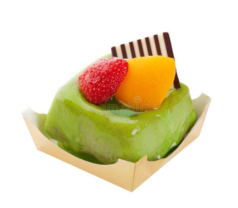 Gâteau de thé vert images libres de droits