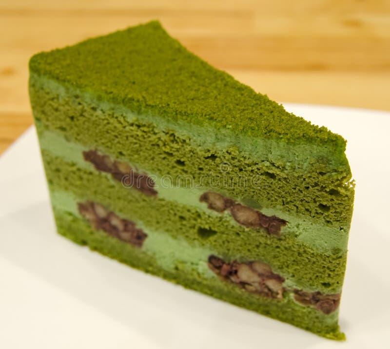 Gâteau de thé vert image stock