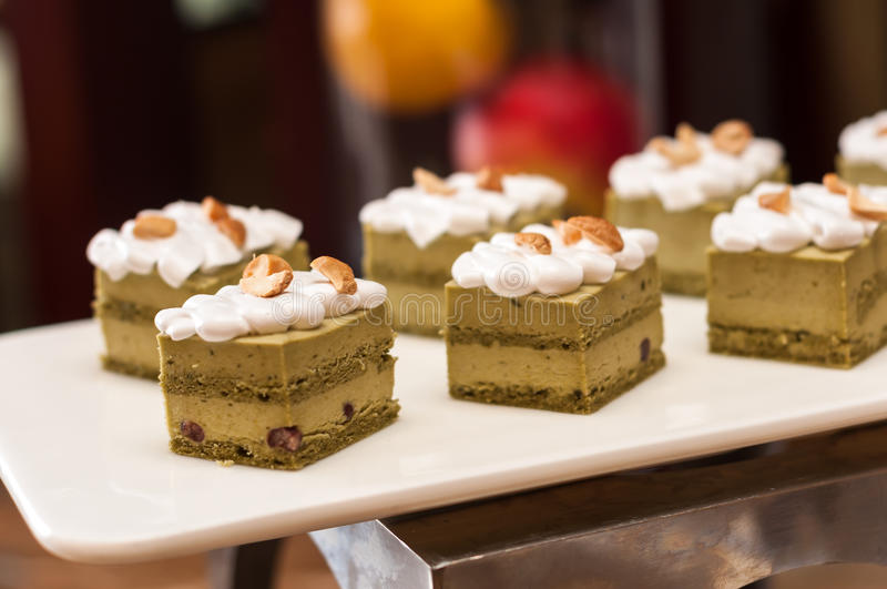 Gâteau de thé vert photo libre de droits