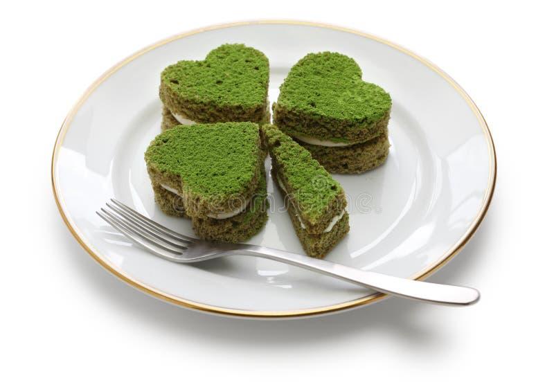 Gâteau de vert d'oxalide petite oseille photo stock